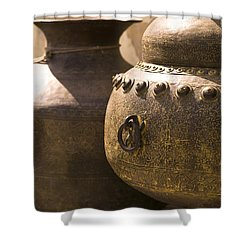 Pots, Jaipur, India Shower Curtain by Keith Levit