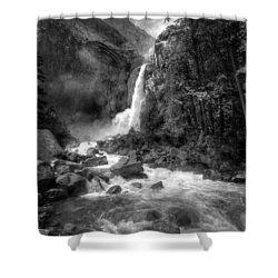 Power Of Water Shower Curtain by Edward Kreis