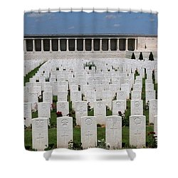 Shower Curtain featuring the photograph Pozieres British Cemetery by Travel Pics