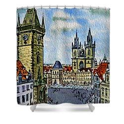 Prague Czech Republic Shower Curtain by Irina Sztukowski