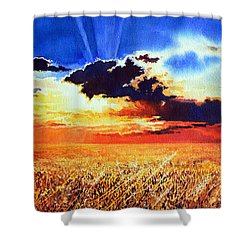 Prairie Gold Shower Curtain by Hanne Lore Koehler