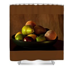 Precious Fruit Bowl Shower Curtain by Sherry Hallemeier
