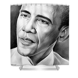 President Barack Obama Shower Curtain by Greg Joens