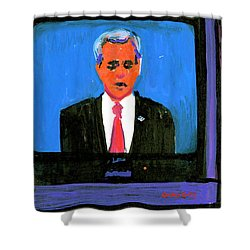 President George Bush Debate 2004 Shower Curtain by Candace Lovely