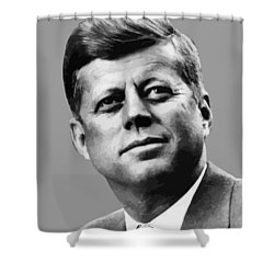 President Kennedy Shower Curtain by War Is Hell Store