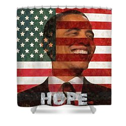 President Obama Hope Shower Curtain by Dan Sproul