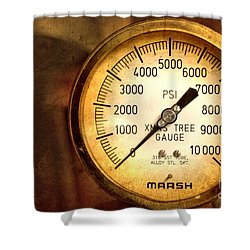 Pressure Gauge Shower Curtain by Charuhas Images