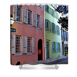 Pretty Lane In Charleston Shower Curtain by Susanne Van Hulst