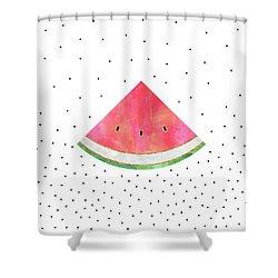 Pretty Watermelon Shower Curtain by Elisabeth Fredriksson