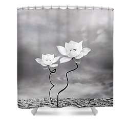 Prevail Shower Curtain by Jacky Gerritsen