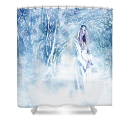 Priestess Shower Curtain by John Edwards