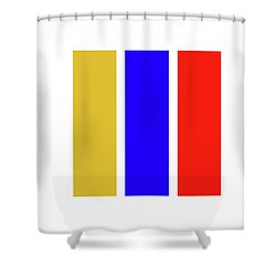 Primary Shower Curtain by Charles Stuart