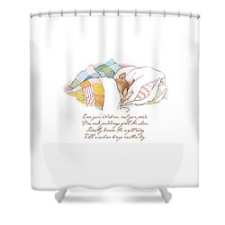 Primrose Goes To Sleep Shower Curtain by Brambly Hedge