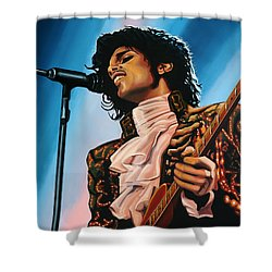 Prince Painting Shower Curtain by Paul Meijering