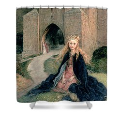 Princess With A Spindle Shower Curtain by Hanna Pauli