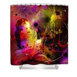 Prisonner Of The Past Shower Curtain by Miki De Goodaboom