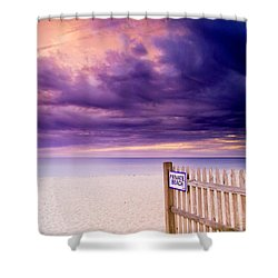 Private Beach Cape Cod Shower Curtain by Matt Suess