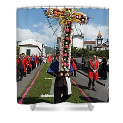 Procession In Furnas - Azores Shower Curtain by Gaspar Avila