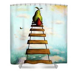 Protecting Baby 6 Shower Curtain by Leah Saulnier The Painting Maniac