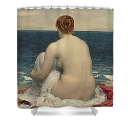 Psamanthe Shower Curtain by Frederic Leighton