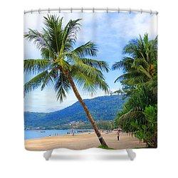 Phuket Patong Beach Shower Curtain by Mark Ashkenazi