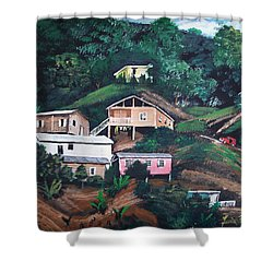 Puerto Rico Mountain View Shower Curtain by Luis F Rodriguez