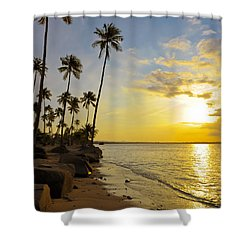 Puerto Rico Sunset Shower Curtain by Stephen Anderson