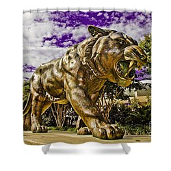 Purple And Gold Shower Curtain by Scott Pellegrin