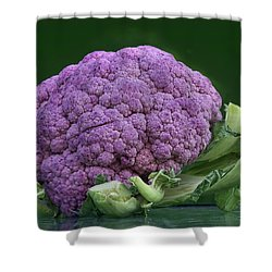Purple Cauliflower Shower Curtain by Nikolyn McDonald