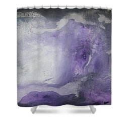 Purple Explosion By Madart Shower Curtain by Megan Duncanson