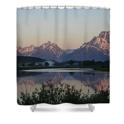 Purple Mountain Majesty  Shower Curtain by Paula Guttilla