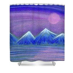 Purple Night 3 Shower Curtain by Hakon Soreide