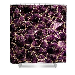 Purple Quartz  Amethyst Shower Curtain by LeeAnn McLaneGoetz McLaneGoetzStudioLLCcom