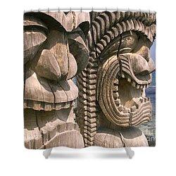 Puuhonua O Honaunau Shower Curtain by Ron Dahlquist - Printscapes