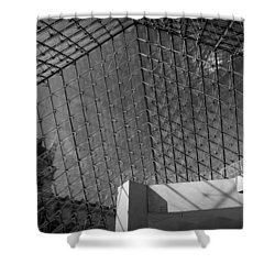 Pyramide Du Louvre Shower Curtain by Sebastian Musial