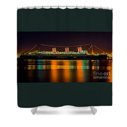 Queen Mary - Nightside Shower Curtain by Jim Carrell