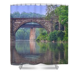 Quiet River Shower Curtain by Bill Cannon