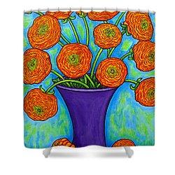 Radiant Ranunculus Shower Curtain by Lisa  Lorenz