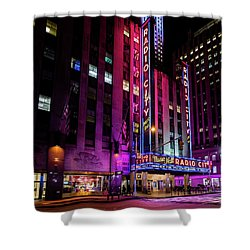 Shower Curtain featuring the photograph Radio City Music Hall by M G Whittingham