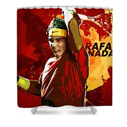 Rafael Nadal Shower Curtain by Semih Yurdabak