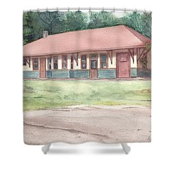 Railroad Depot Shower Curtain by Katherine  Berlin