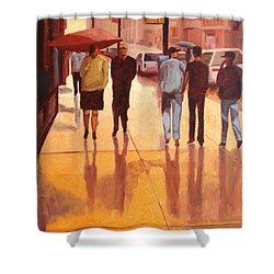 Rain In Manhattan Number Eighteen Shower Curtain by Tate Hamilton