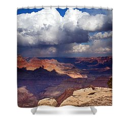 Rain Over The Grand Canyon Shower Curtain by Mike  Dawson
