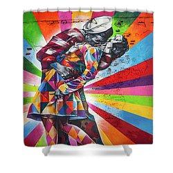 Rainbow Kiss Shower Curtain by Az Jackson