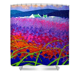 Rainbow Meadow Shower Curtain by John  Nolan