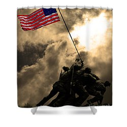 Raising The Flag At Iwo Jima 20130211 Shower Curtain by Wingsdomain Art and Photography