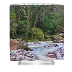 Rapids At The Rivers Bend Shower Curtain by Jeff Kolker
