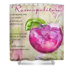Rasmopolitan Mixed Cocktail Recipe Sign Shower Curtain by Mindy Sommers