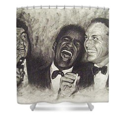 Rat Pack Shower Curtain by Cynthia Campbell