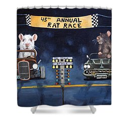 Rat Race Shower Curtain by Leah Saulnier The Painting Maniac